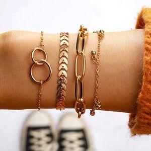 Multi Layered Gold Stacking Bracelets